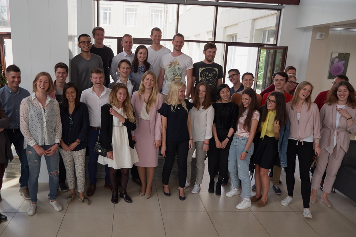 Российские и австрийские студенты изучают перспективные технологии строительства в Политехе